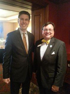Meeting the mayor. Looking good JJ!