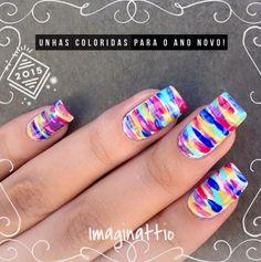 Unhas para Reveillon - Imaginattio #colorfulnails #beautifulnails #nailsfordays