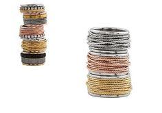 Anillos con hilo de plata y distintas combinaciones www.pilarbreviati.es