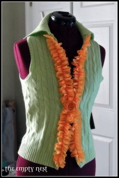 Diy upcycled: Spring Green Sweater Restyle