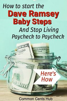 Dave Ramsey Tips: How You Can Actually Do the 7 Baby Steps - Finance tips, saving money, budgeting planner Money Tips, Money Saving Tips, Money Budget, Saving Ideas, Groceries Budget, Dave Ramsey Debt Snowball, Budget Planer, Money Challenge, Savings Challenge