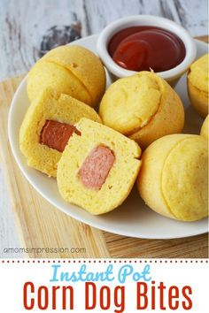 Homemade Instant Pot mini Corn Dog bites -simple and easy to make in your pressure cooker using just a few ingredients. Homemade Instant Pot mini Corn Dog bites -simple and easy to make in your pressure cooker using just a few ingredients. Instant Pot Pressure Cooker, Pressure Cooker Recipes, Pressure Cooking, Instant Cooker, Slow Cooker, Corn Dog Bites Recipe, Donuts, Mini Corn Dogs, Instant Pot Dinner Recipes