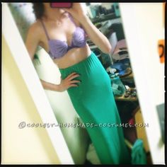 Homemade Ariel – Little Mermaid Costume... This website is the Pinterest of costumes