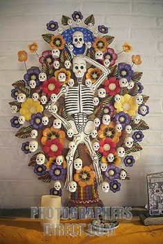 mexican tree of life | Stock Photography image of Mexican Tree of Life with death motif stock ...