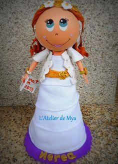 Fofucha de primera comunión https://www.facebook.com/MyaAtelier