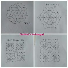 U can even colour it Indian Rangoli Designs, Rangoli Designs Latest, Rangoli Designs Flower, Rangoli Border Designs, Small Rangoli Design, Rangoli Patterns, Rangoli Ideas, Rangoli Designs Images, Rangoli Designs With Dots
