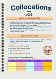 English worksheet: Collocations.. make, do, have, spend, take