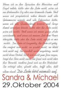 Hochzeitskerzen & Beleuchtung - Hohelied der Liebe (1. Korinther 13) - ein Designerstück von Machs-Licht-an bei DaWanda