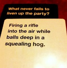 A card game for horrible people.