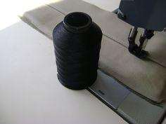 Black Polyester Sewing Thread 8oz Spool T90 2250 Yards UV Outdoor B92 P8