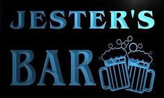 #W004429-b #jester name home bar pub beer mugs #cheers neon led sign,  View more on the LINK: http://www.zeppy.io/product/gb/2/391521211328/
