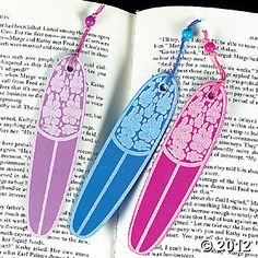 Surfboard Bookmarks, party favors?, $4.25 per dozen