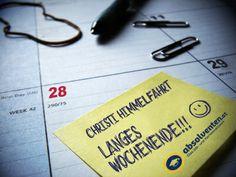 Wir wünschen euch einen schönen Feiertag und all jenen die auch morgen frei haben - ein SCHÖNES LANGES WOCHENENDE!