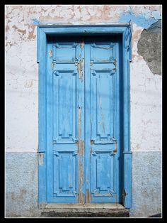 Blaue Tür in Valle Gran Rey - La Gomera