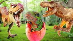 Dinosaurs Fighting Movies   Surprise Eggs Rhymes   Dinosaurs Videos  Din...