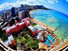 Waikiki, Moana Beach Hotel, Diamond Head