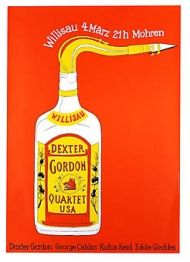 Jazz Willisau - Dexter Gordon by Niklaus Troxler Music Posters, Concert Posters, Dexter Gordon, Jazz Poster, Jazz Artists, All That Jazz, Jazz Blues, Ink Pen Drawings, Illustrations