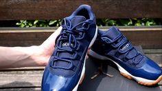 best website 416bd d2e85 2016 Authentic Air Jordan 11 Low Navy Gum Unboxing - sneakerjumpman.ru .