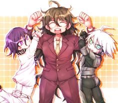 Kokichi, Gonta and Kiibo