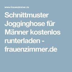 Schnittmuster Jogginghose für Männer kostenlos runterladen - frauenzimmer.de