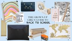 Back to school for the working woman who still wants to indulge her stationery/supply obsession. (We feel ya.)