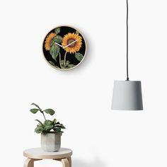 'Helianthus sunflower botanical garden botany fruit print art bloom floral print' Clock by Fruit Print, Floral Prints, Art Prints, Botany, Botanical Gardens, Clocks, My Arts, Bloom, Printed