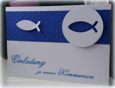 Einladungskarten - Einladungskarte Kommunion Konfirmation Taufe  - ein Designerstück von Dekowerkstatt-KaMaNe bei DaWanda