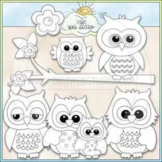 Cute Owls 1 - NE Kristi W. Designs Digi Stamps : Digi Web Studio, Clip Art, Printable Crafts & Digital Scrapbooking!