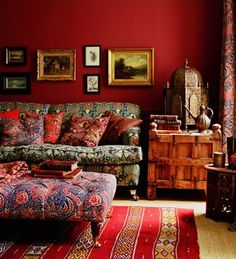 eccentric and ecclectic.  I love the way nothing goes together but it looks fabulous!