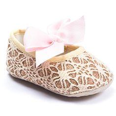 Anna-Kaci Princess Infant Toddler Baby Girl Soft Sole Crib Shoes Newborn 0-18 Months