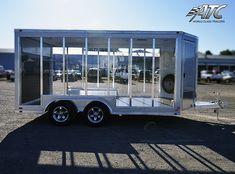 Enclosed Trailer Camper, Cargo Trailer Camper, Overland Trailer, Airstream Trailers, Cargo Trailers, Utility Trailer, Work Trailer, Trailer Plans, Trailer Build
