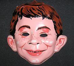 1960 MAD Magazine ALFRED E. NEUMAN Halloween Mask - Collegeville Mint | eBay