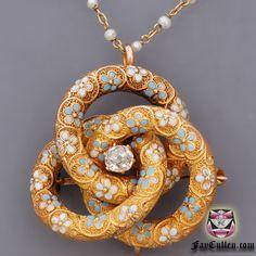 Antique Victorian Old Mine Diamond Necklace