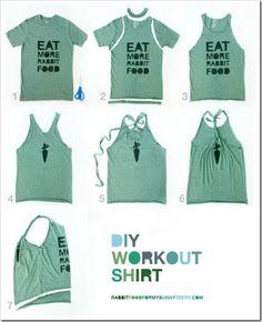 As Seen on Pinterest: DIY Workout Shirt | The Adventures of Z & K