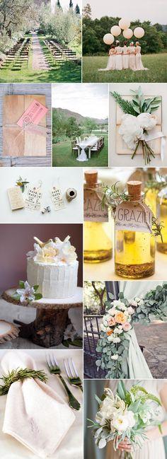 Delicate Italian wedding inspiration board | Wedding Party