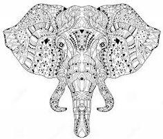 Resultado de imagem para elefante hindu para imprimir