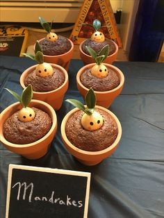 Mandrake cupcakes