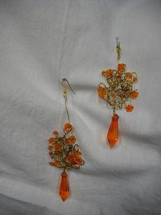 Free shipping/Romantic OOAK bridesmaid Earrings/The by Endladesign, $35.00
