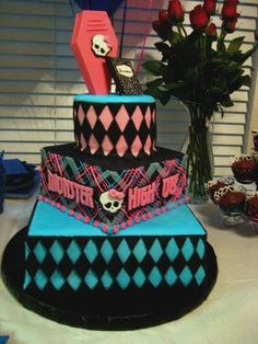 Monster High Birthday Cake By fiach3 on CakeCentral.com