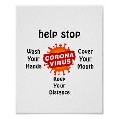 Help Stop Corona Virus Germ Safety Hygiene Poster Safety Quotes, Safety Posters, Facebook Christmas Cover Photos, Poster On, Poster Prints, Nurses Week Quotes, Nurse Office, Hand Hygiene, Custom Posters