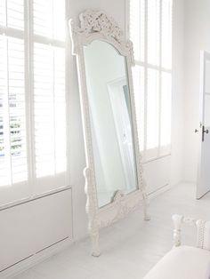 Interesting upholstered (it seems) full length mirror... | : MIRRORS ...