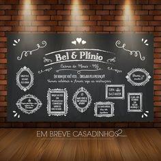 Arte Digital - Painel para Photobooth - Em Breve Casadinhos