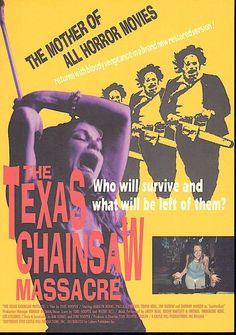 Texas Chainsaw Massacre | 70s Horror Cult Classic | 1997 print | vintage Japanese chirashi film poster