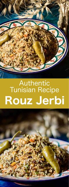 Rouz jerbi is a versatile Tunisian dish prepared with rice, which includes various vegetables, meats, spices and herbs, that can change according to t. Barbecue Recipes, Grilling Recipes, Cooking Recipes, Barbecue Sauce, Tunisia Recipe, Tunisian Food, Healthy Grilling, Vegetarian Grilling, Organic Cooking