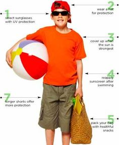 sun safety tips and funny sunburn