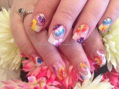 Nail Art Photo Taken at:27/04/2013 11:58:53 Nail Art Photo Uploaded at:27/04/2013 20:42:46 Nail Technician:Elaine Moore Description: White French tips with one stroke flower nail art @ www.eyecandynails.co.uk