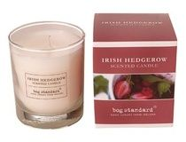 Natural hedgerow berry scented candle. Burn time 35 hours. Glass size 9cm H x 7.5cm W