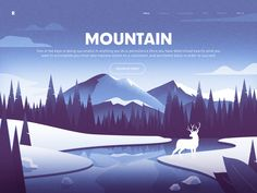 Web Design 2 designed by Rwds. Connect with them on Dribbble; the global community for designers and creative professionals. Mountain Illustration, Flat Illustration, Landscape Illustration, Web Design, Graphic Design, Flat Design, Parallax Effect, Identity, Landscape Elements