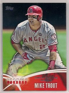"2014 Topps The Future is Now Mike Trout ""Check out the wheels"" Insert card #FN20 #AnaheimAngels"