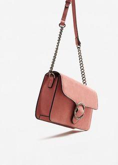 Buckle leather bag   MANGO
